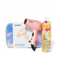 amika Mini Ionic Hair Dryer and Perk Up Set