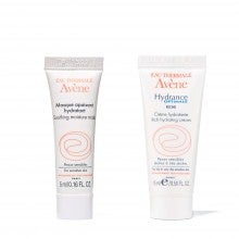 Spend $25+, get a free Avène Soothing Moisture Mask and Hydrance Optimale Hydrating Cream RICH deluxe sample duo
