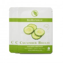 BioRepublic Skincare Cucumber Breeze Soothing Fiber Mask Set