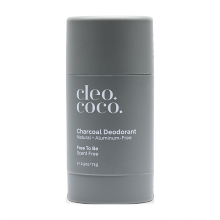 Cleo+Coco Charcoal Deodorant - Free To Be, Scent Free