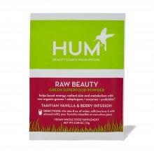 Spend $25+, get a free HUM Nutrition Raw Beauty Green Superfood Powder - Tahitian Vanilla & Berry packette