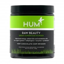 HUM Nutrition Raw Beauty Green Superfood Powder - Mint Chocolate Chip Infusion