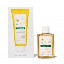 Spend $25+, get a free Klorane Shampoo with Chamomile - For Blonde Hair deluxe sample & Conditioner packette