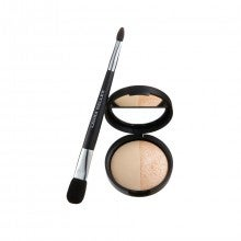 Laura Geller New York Baked Split Highlighter Duo with Double Ended Brush - French Vanilla