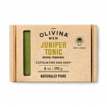 Olivina Men Exfoliating Bar Soap - Juniper Tonic