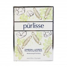 Pūrlisse Charcoal + Licorice Pore Refining Sheet Mask - 6 Pack