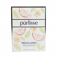 Pūrlisse Green Tea + Vitamin C Brightening Sheet Mask - 6 Pack