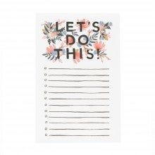 Spend $35+, get a free Rifle Paper Co. Let's Do This! Notepad