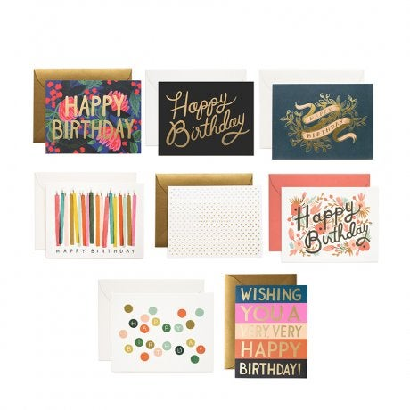 Rifle Paper Co Birchbox Exclusive Happy Birthday Card Set – Set of Birthday Cards