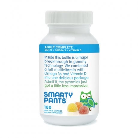 The SmartyPants Gummy Vitamins offered by SmartyPants is a multivitamin formulation, enriched with Omega 3 and Vitamin D. The supplement is available also in a specially designed formula for children.