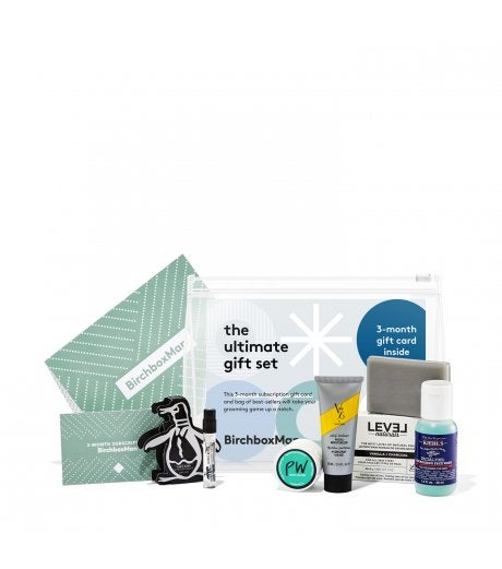 BirchboxMan Ultimate Gift Set Including 3 Month Subscription Card