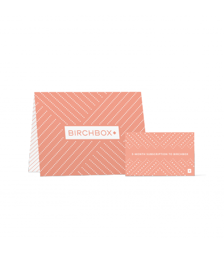 Birchbox 3 Month Subscription Gift Card
