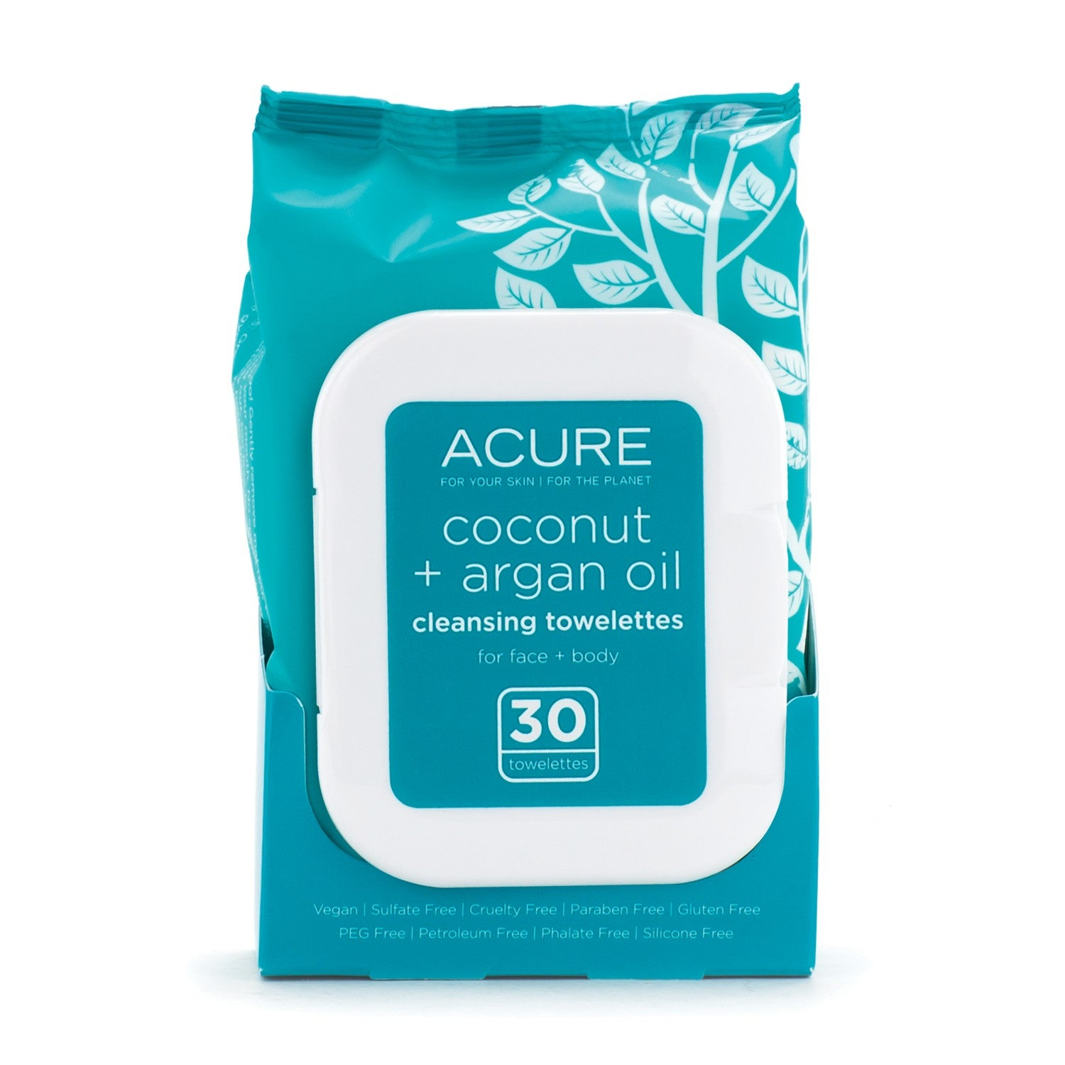Acure Organics Coconut & Argan Oil Cleansing Towelettes