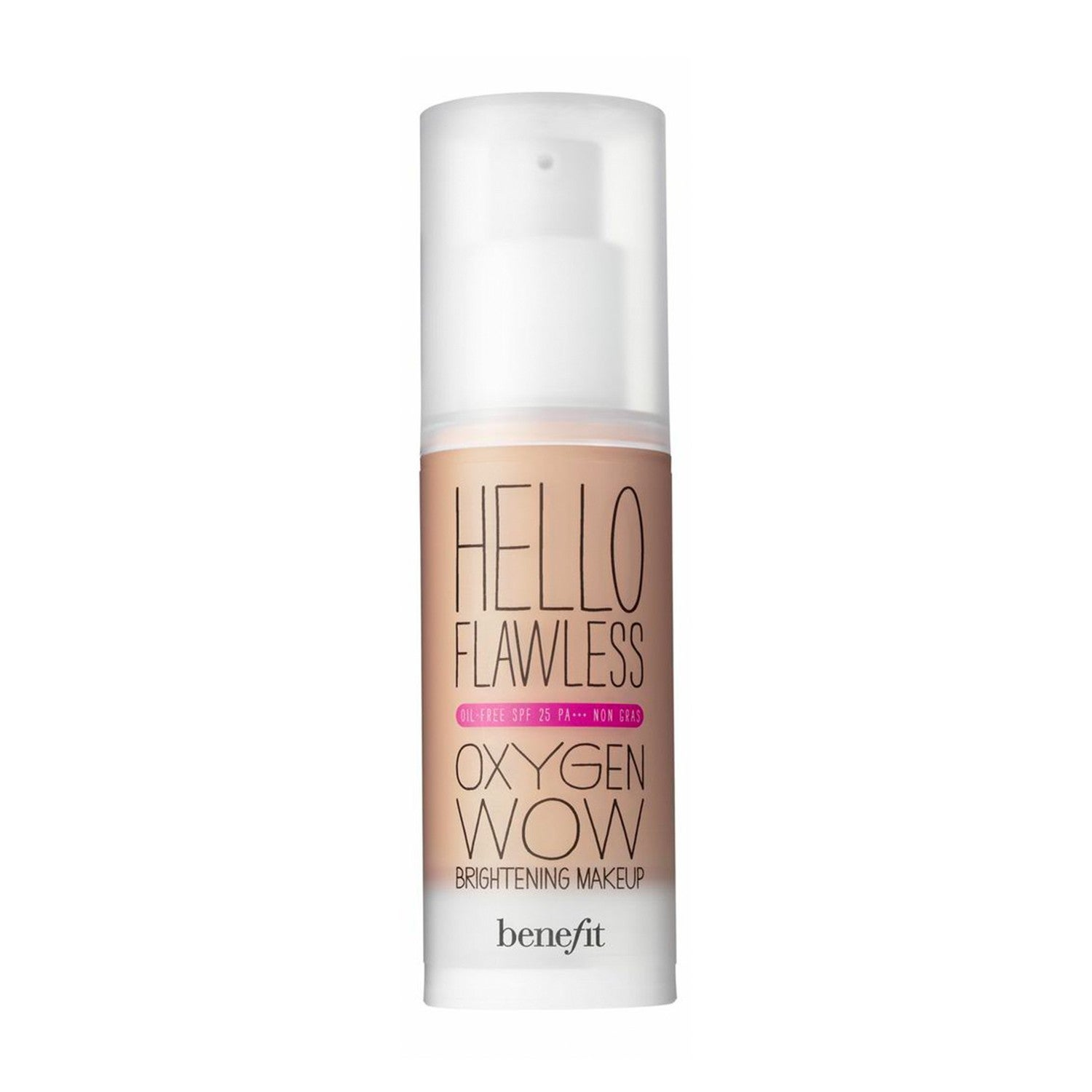 benefit hello flawless oxygen wow spf 25 liquid foundation. Black Bedroom Furniture Sets. Home Design Ideas