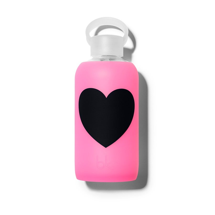 bkr 16 oz. Glass Water Bottle with Heart
