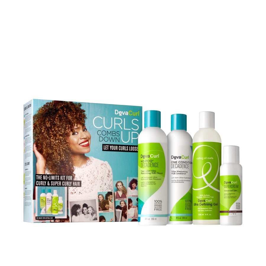 Devacurl Curls Up Combs Down The No Limits Kit For Curly