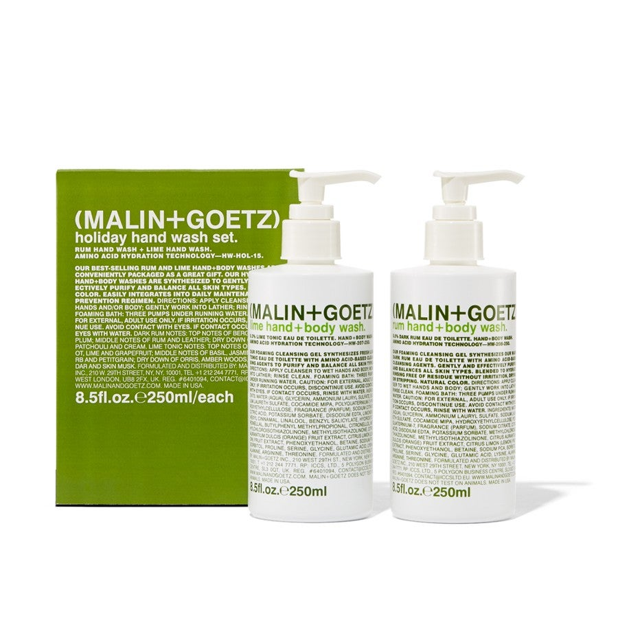 malin goetz rum and lime holiday hand wash set. Black Bedroom Furniture Sets. Home Design Ideas