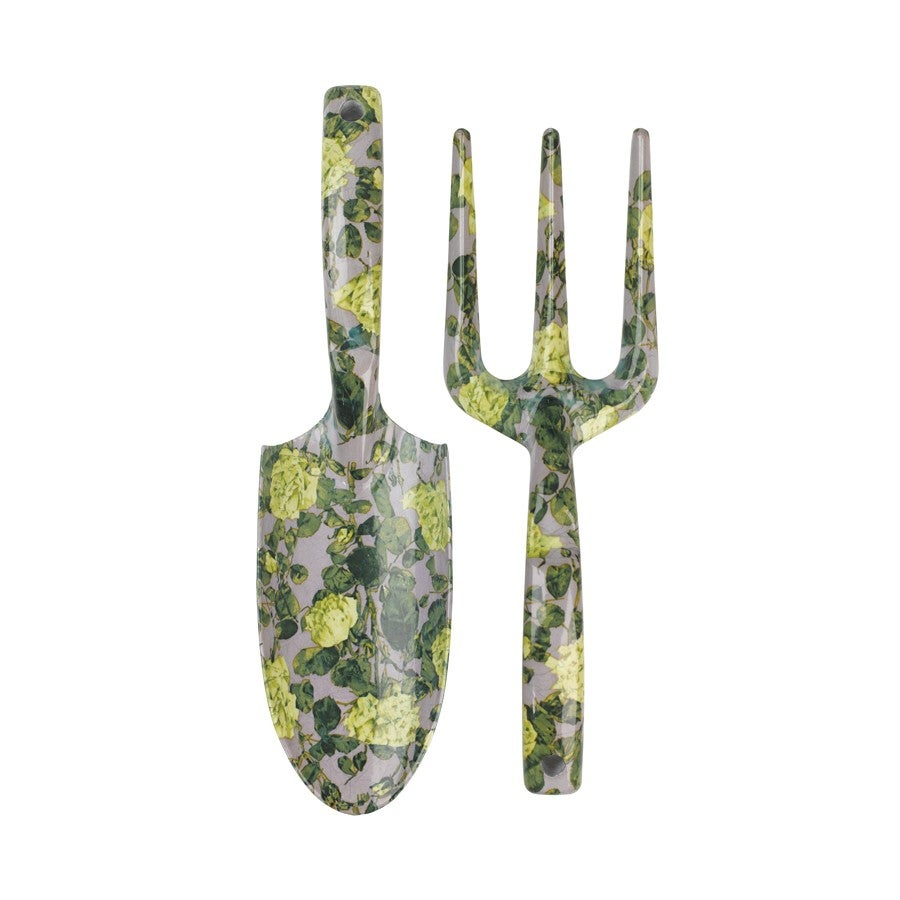 Wild wolf rose print garden tool set for Small garden tools set of 6