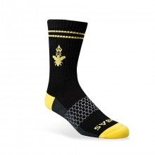 Bombas Men Color Calf Socks - Black/Yellow