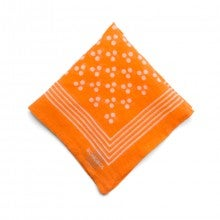Bonobos Cotton Pocket Square - The Lincoln Square - Orange Triple Dot