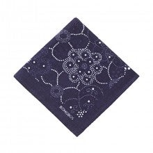 Bonobos Cotton Pocket Square - The Lincoln Square - Navy Floral Dot