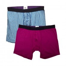 MeUndies Boxer Briefs 2-Pack (Gingham & Raspberry)