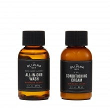 Spend $35+, get an exclusive grooming sample duo from Olivina Men