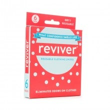 Reviver Dry Deodorant Swipes for Clothes 6-Pack