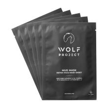 The Wolf Project Detox Mud Sheet Face Mask – 5 Pack