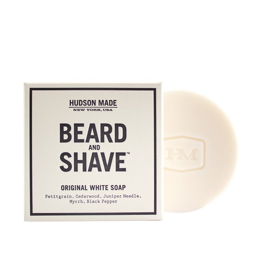 hudson made beard and shave soap original white. Black Bedroom Furniture Sets. Home Design Ideas